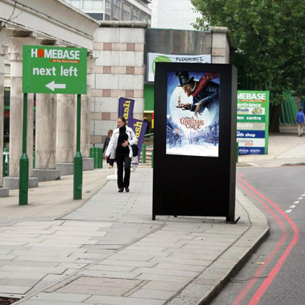 55'' high brightness IP65 outdoor lcd advertising display totem