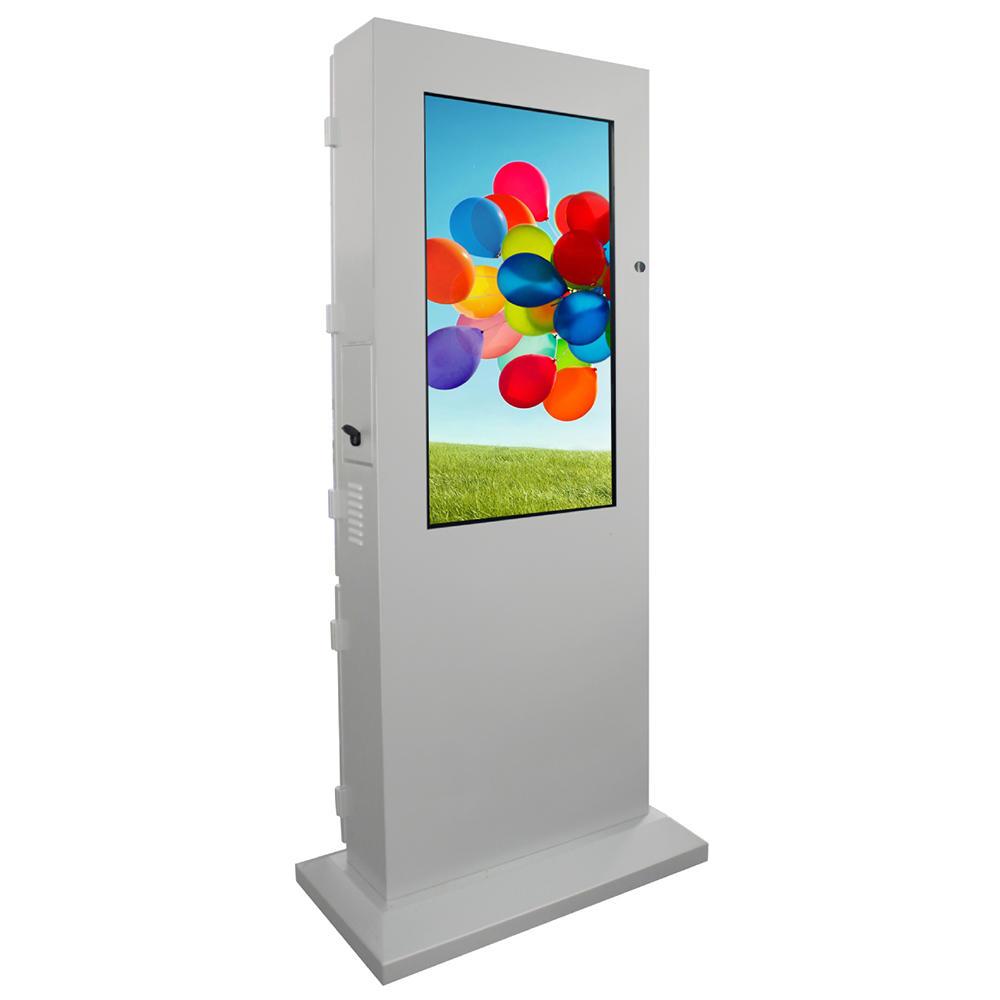 Outdoor advertising kiosk free standing digital signage display
