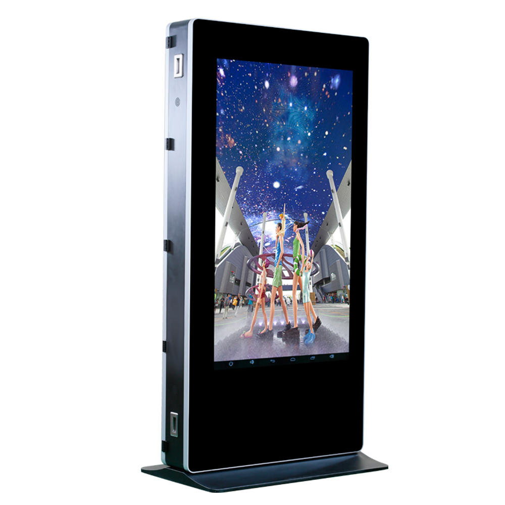 Wireless battery powered digital outdoor lcd display full outdoor kiosk