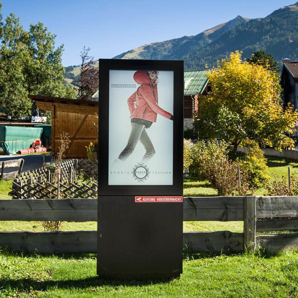 Outdoor waterproof floor stand lcd touch screen advertising display custom advertising kiosk