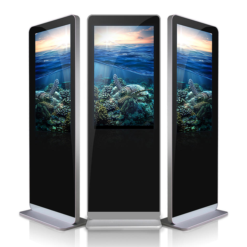 55 inch 3g Free standing android LCD digital signage display