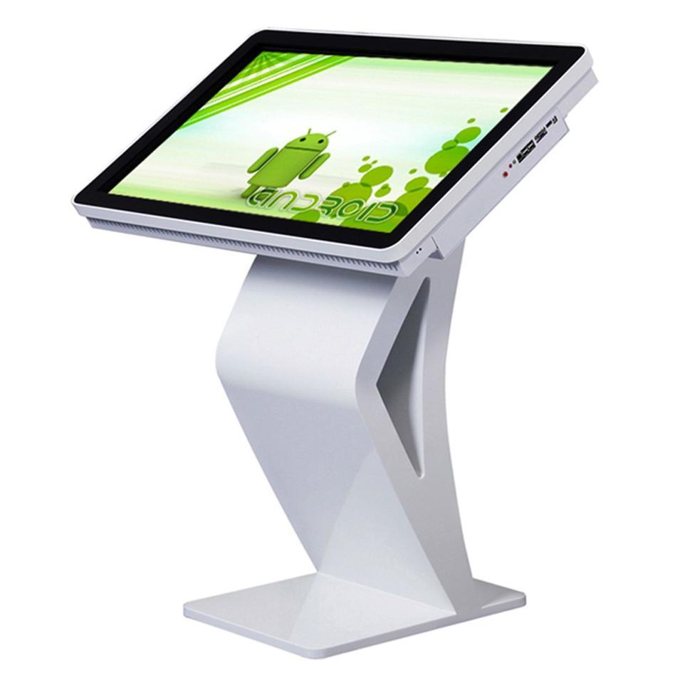 Indoor standalone lcd display touchscreen computer kiosk desk