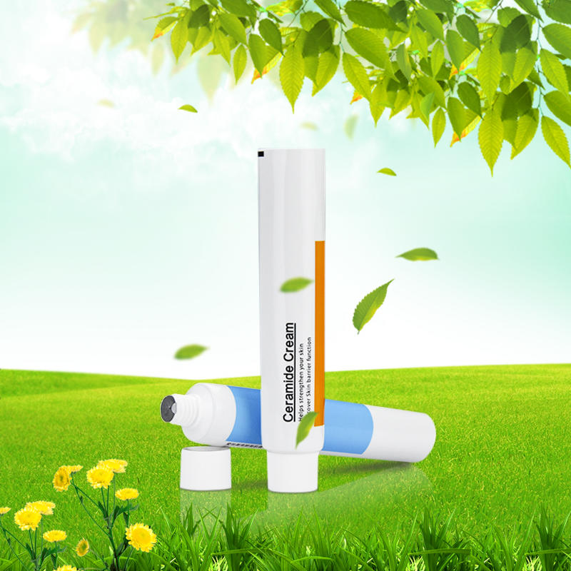 Empty plastic screw cap toothpaste tube packaging and printing