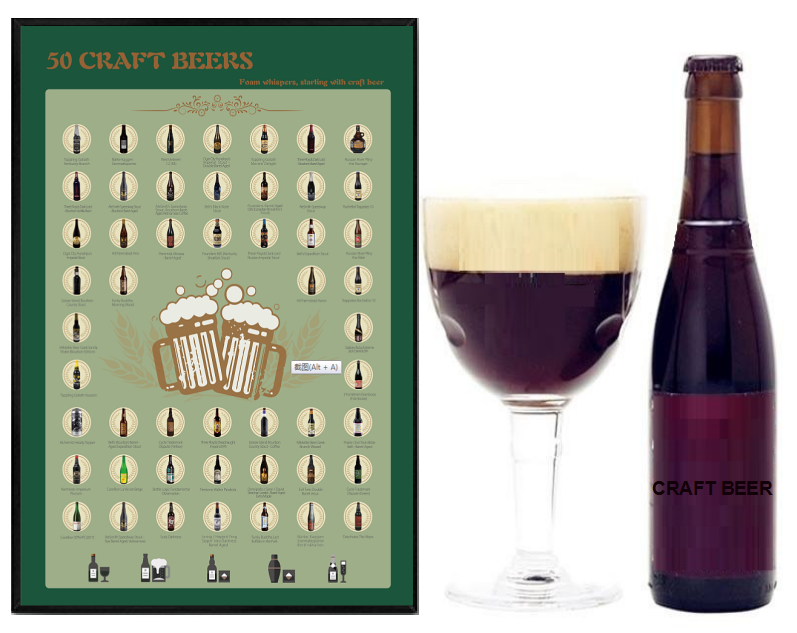 2020 Scratch Poster Craft Beerfor Amazon FBA ,gift for boyfriend,Best friends