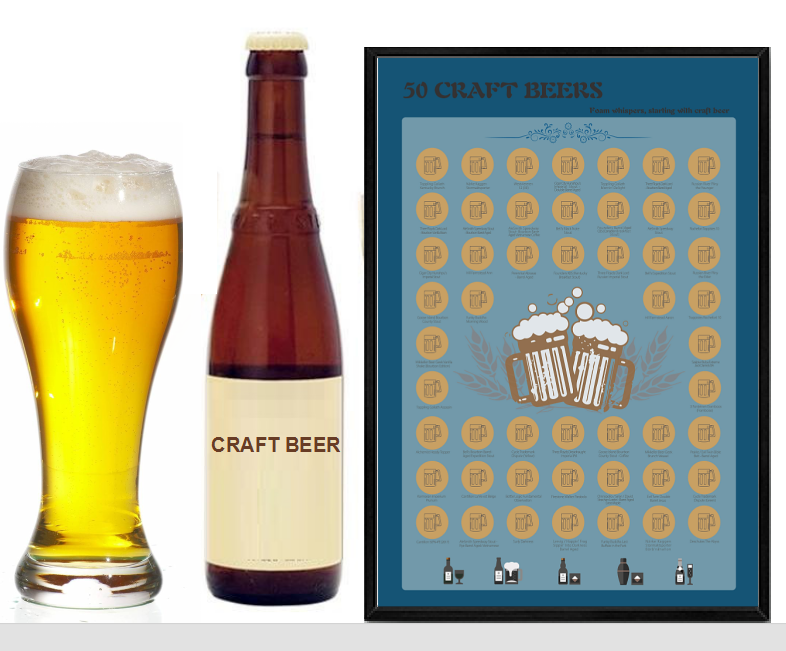 New design Scratch Off poster Bucket list Scratch OffPoster Craft Beerfor Amazon FBA,