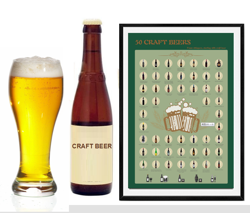 2020 Scratch OffPoster Craft Beerfor Amazon FBA ,gift for boyfriend,Best friends