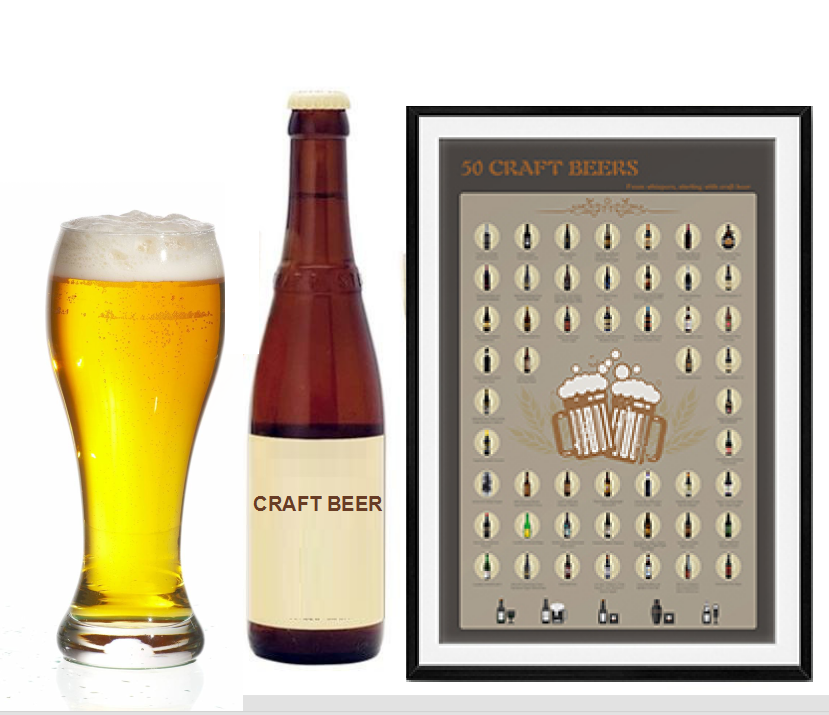 Scratch Offmap poster Bucket list Scratch OffPoster Craft Beerfor Amazon FBA,