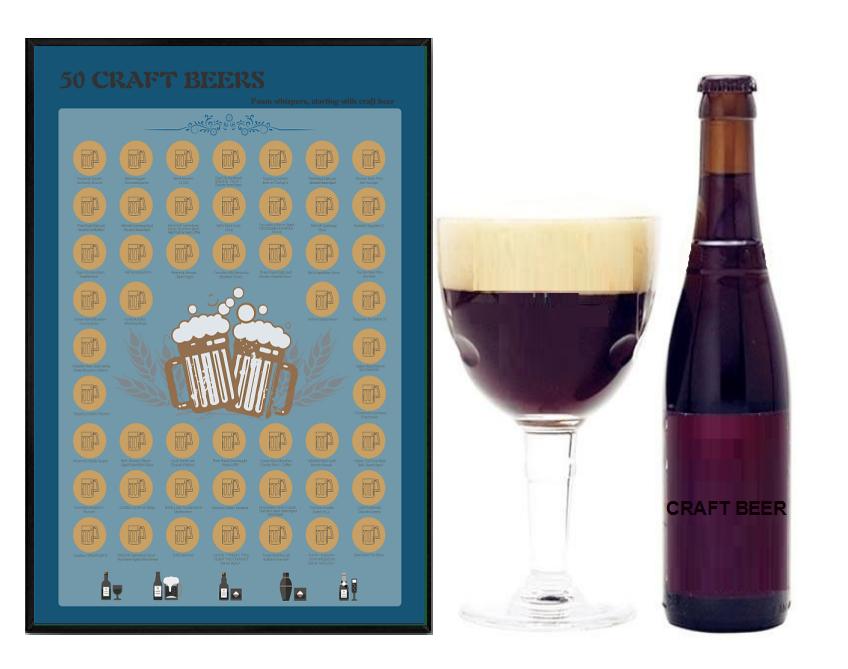 2020 new modelScratch OffPoster Craft Beer gift for boyfriend,Best friends