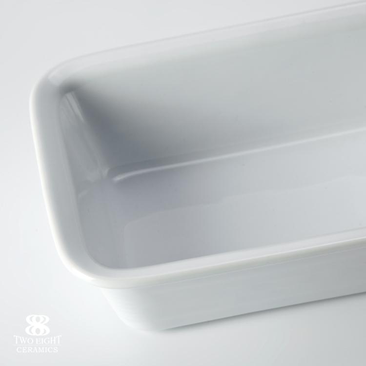 Restaurant white Rect Ceramic Plate New Design Rectangle Plain Ceramic Plate