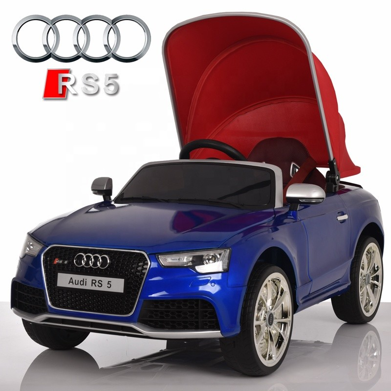 2018 new children toy car cheap electric cars for kids car remote control licence AUDI RS 5