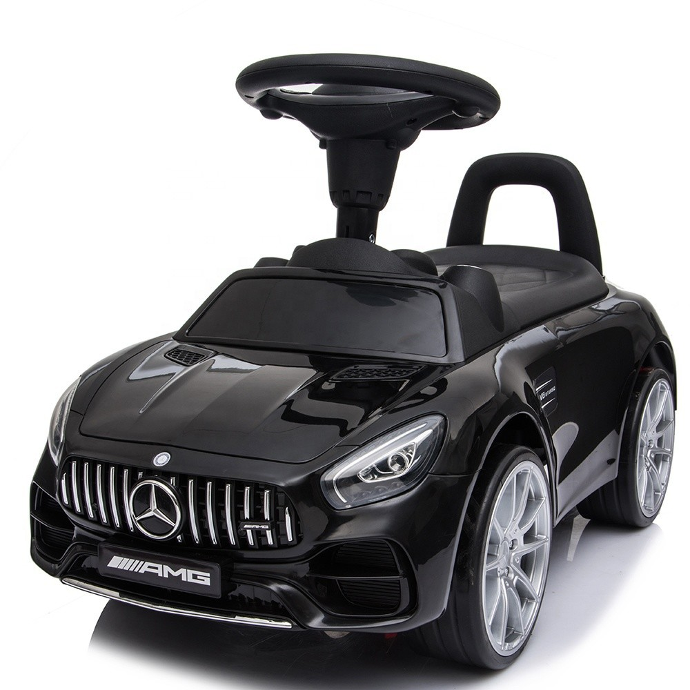 Benz license baby walking car slide toy cars for kids to ride electric