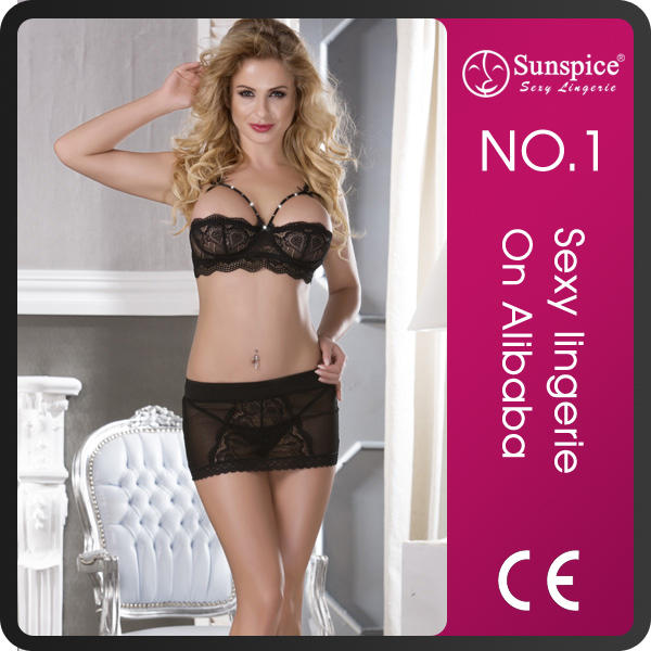 Sunspice New fashion stretch lace nylon lycra lingerie fabric for women