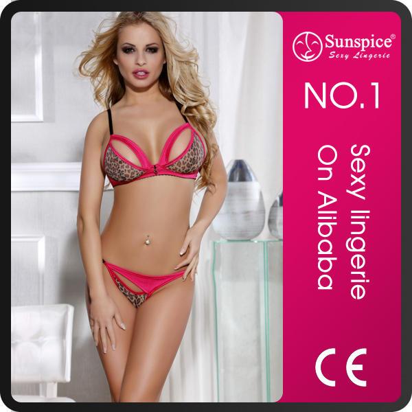 Sunspice top quality push up nylon saxy sexy girls sexy bra pant set