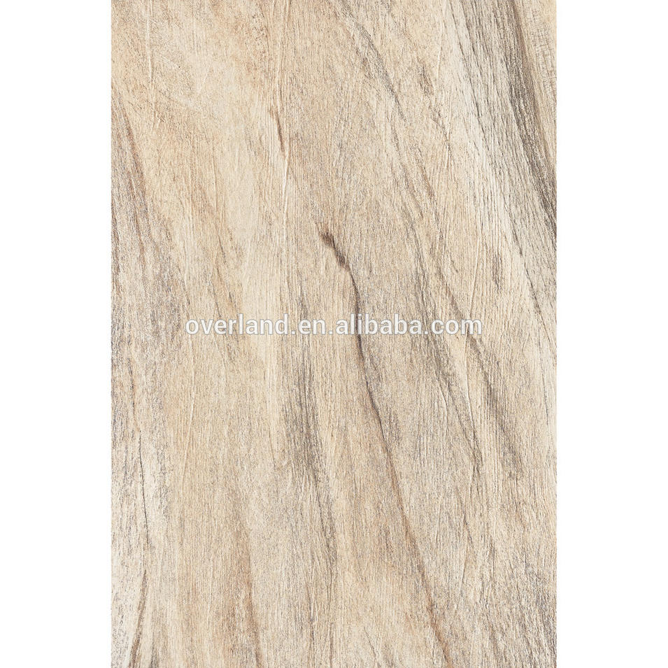 Outdoor embossed ceramic wood look tile