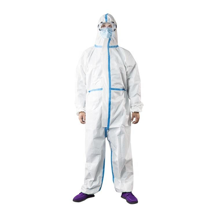 Disposable coverall protection microfiber cleaning clothes ppe safety equipment plastic coverall type 5/6