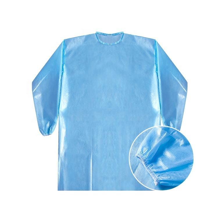 Safety PPE gown adjustable disposable gowns SMS clothes AAMI Level II PPE equipment