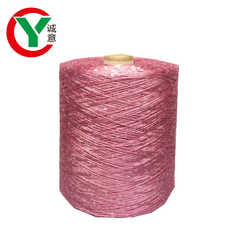 2mm 3mm 4mm cotton polyester sequin yarn for knitting from china