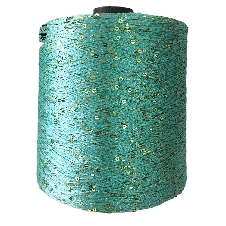 100% polyester 3 mmsequin knitting yarn / factory direct sell high tenacity polyesteryarn for weaving