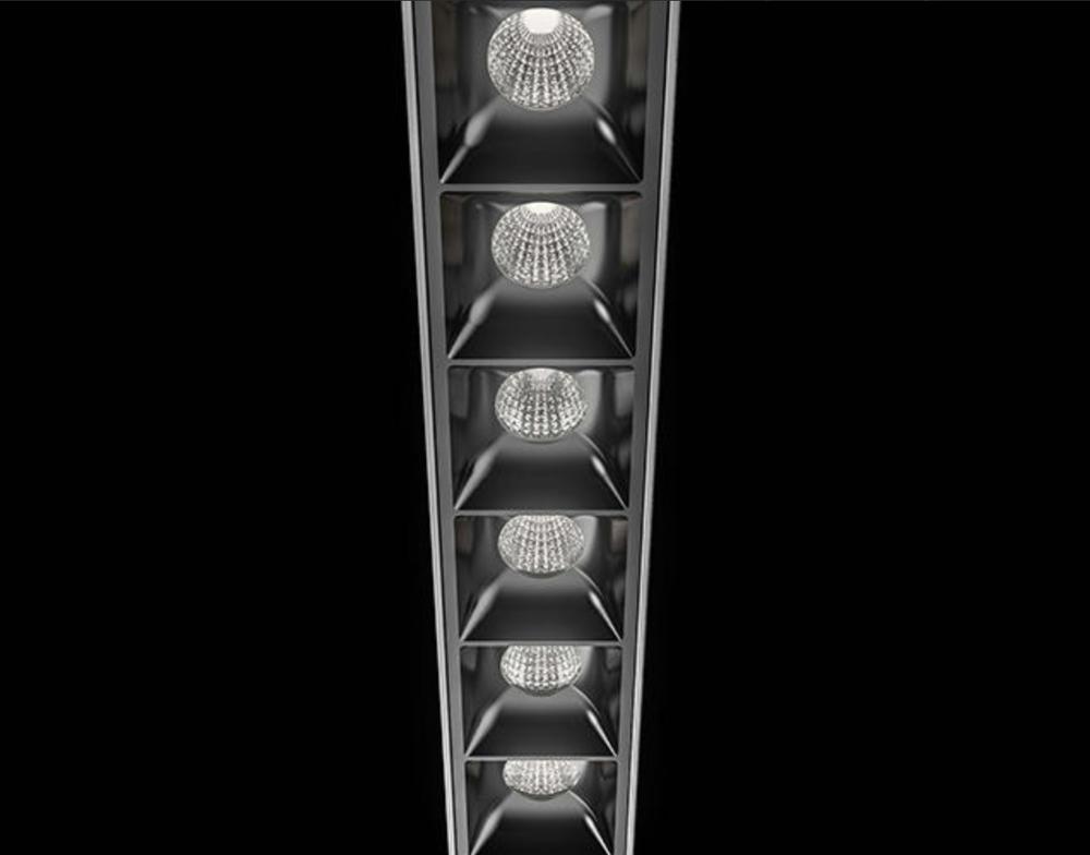Energy Saving Modern Office Hospital Lighting 0-10V Dali Dimming Pendant LED Linear Light