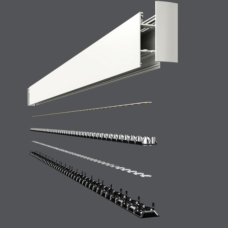 led pendant lightNew design 30W LED office light 1200mm suspended led linear light for office transparent
