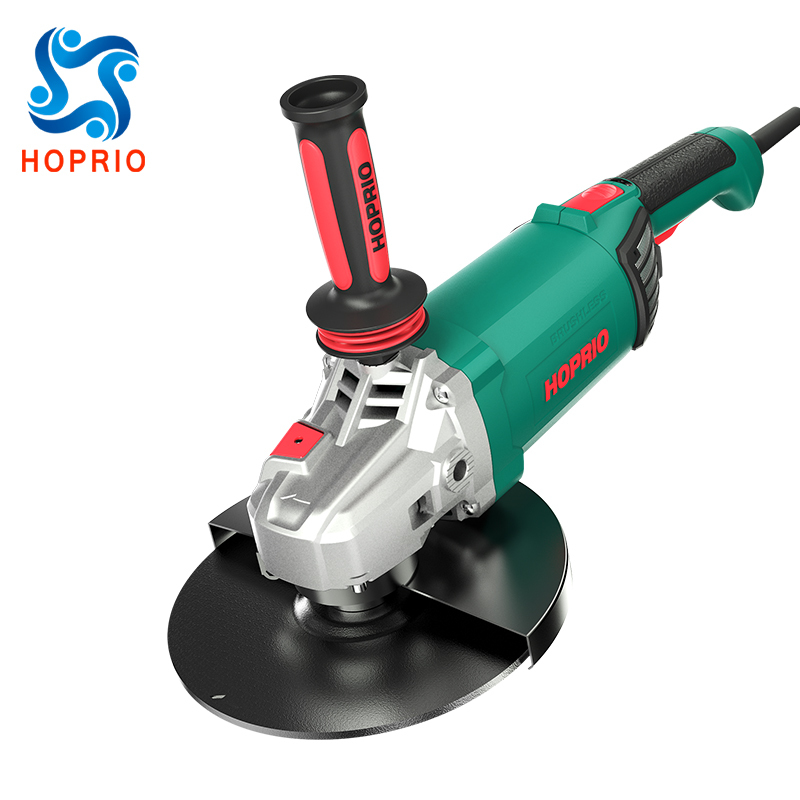 Hoprio Corded Electric Grinders 14A 4000W 7 InchRotation Handle Brushless Angle Grinder Machines