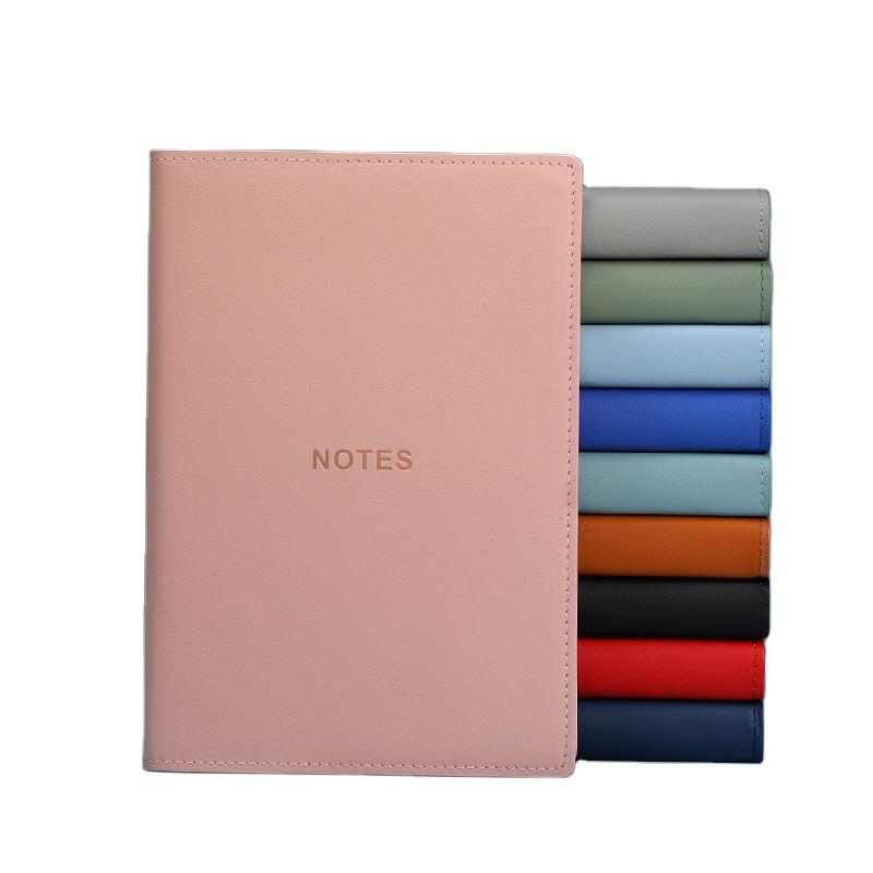 Custom Soft Covers Book Set Business Women Suits Office Ladies A5 PU Leather Notebook Note Book For School