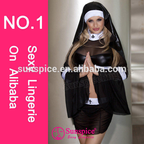 2015 new style top quality sexy cheerleader costume lebanon evening dress sexy nun costume fancy dress
