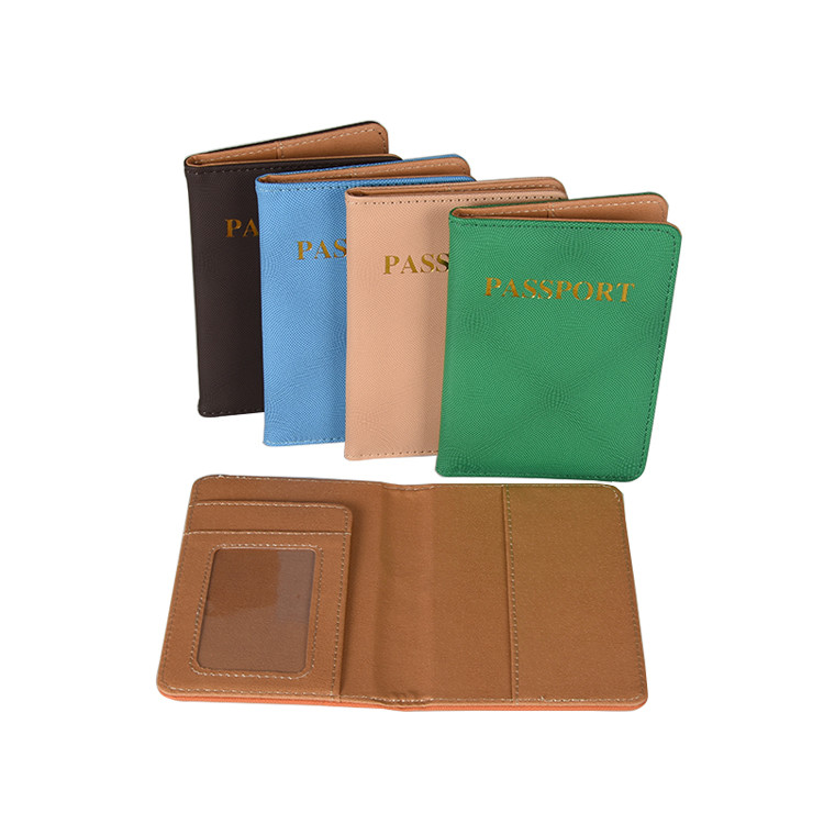 PU Leather Material And 9.8*14cm Size Exquisite Passport Holders On Stock