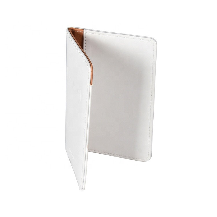 Brand Logo 9.8*14cm Size Delicate Craft Leather Material Passport Cover Custom