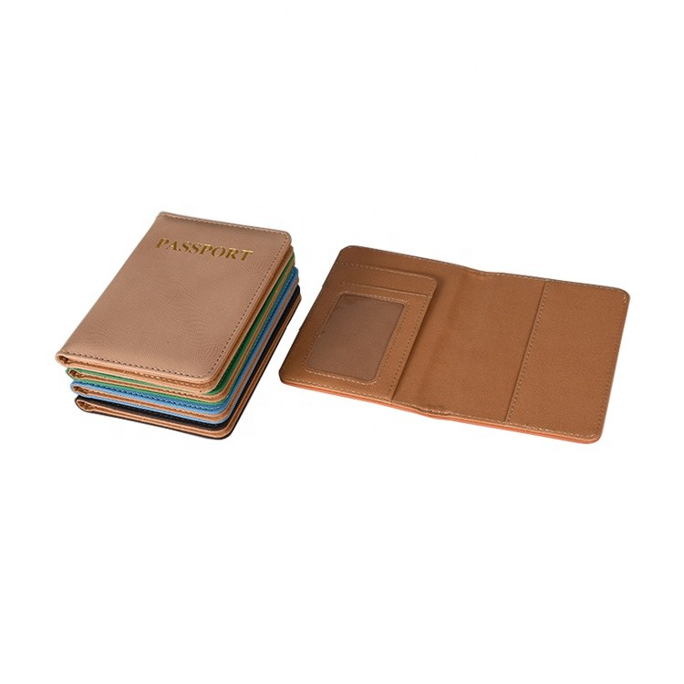 Wholesale 9.8*14cm High Quality Colored PU Leather Mini Travel Passport Wallet On Stock