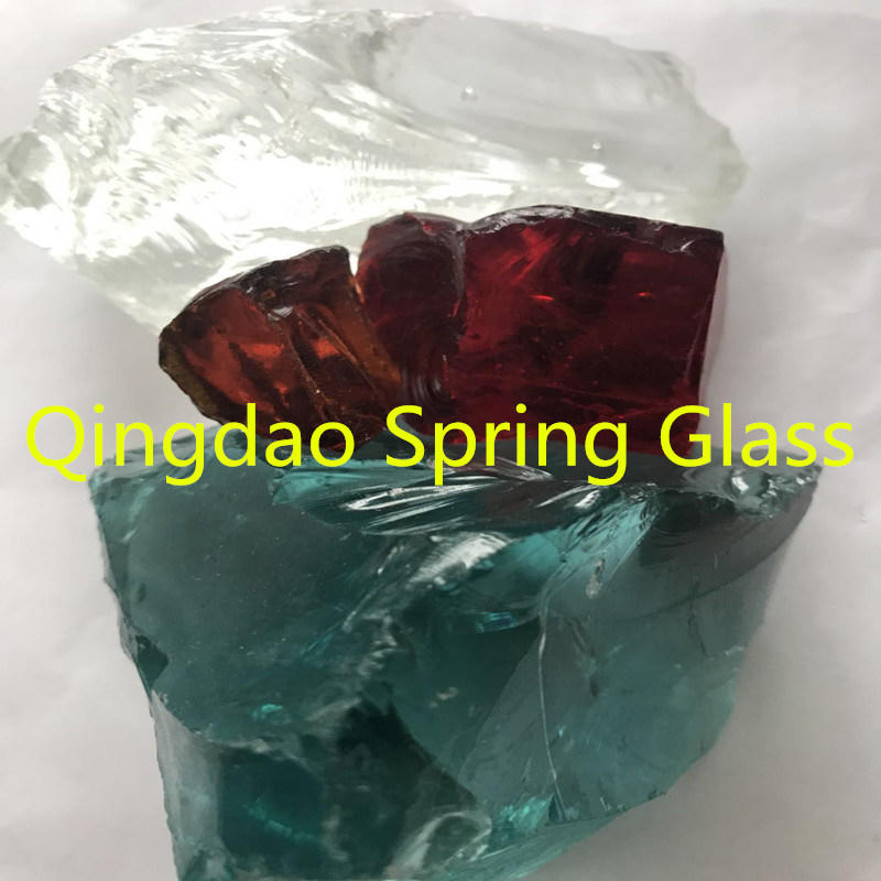 Decorative Landscaping Glass Rocks From Qingdao Spring