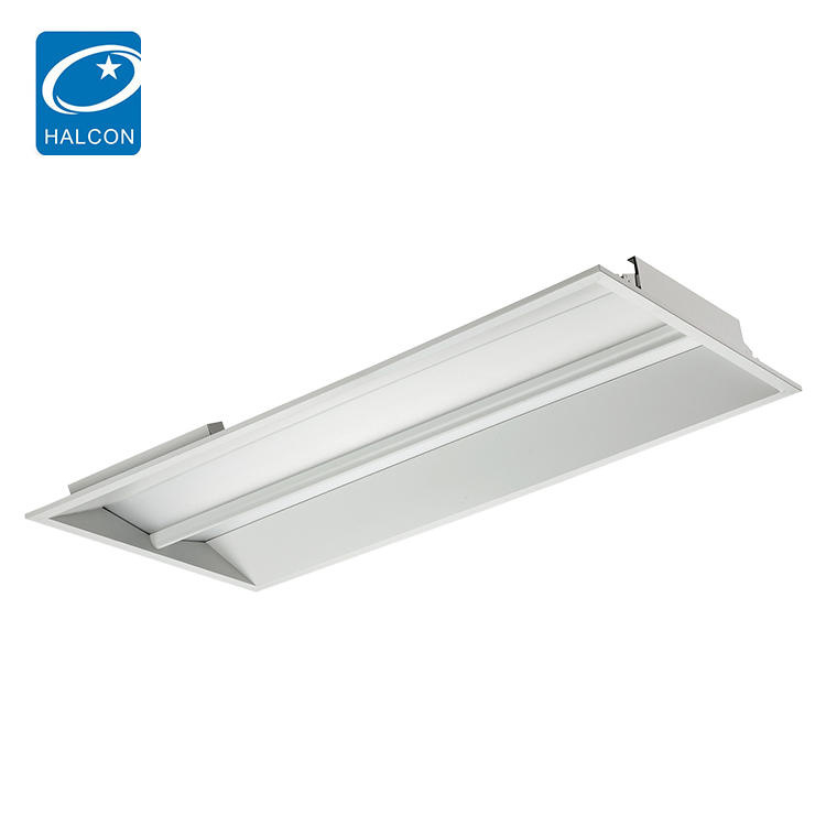 High lumen Milky PC material Housing Steel Sheet 2x4 30w 45w led troffer light