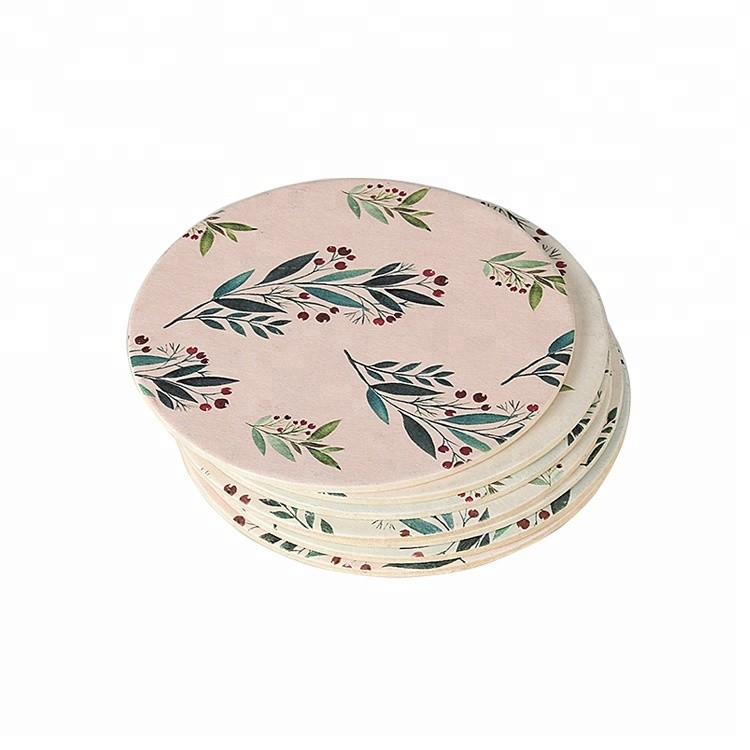 Custom Promotion Type Pulp Board Absorbent Paper Coasters