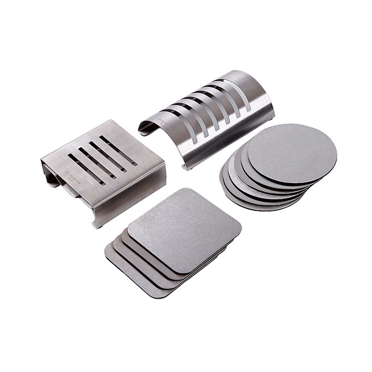Top Quality Stainless Steel Coasters Metal Coaster Holder / Cup Mat / Cup Pad