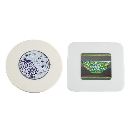 Environmentally Soft Pvc Rubber Record Coaster, Cd Coaster Cup Mat Pvc Coaster Accept Customize Printing Logo