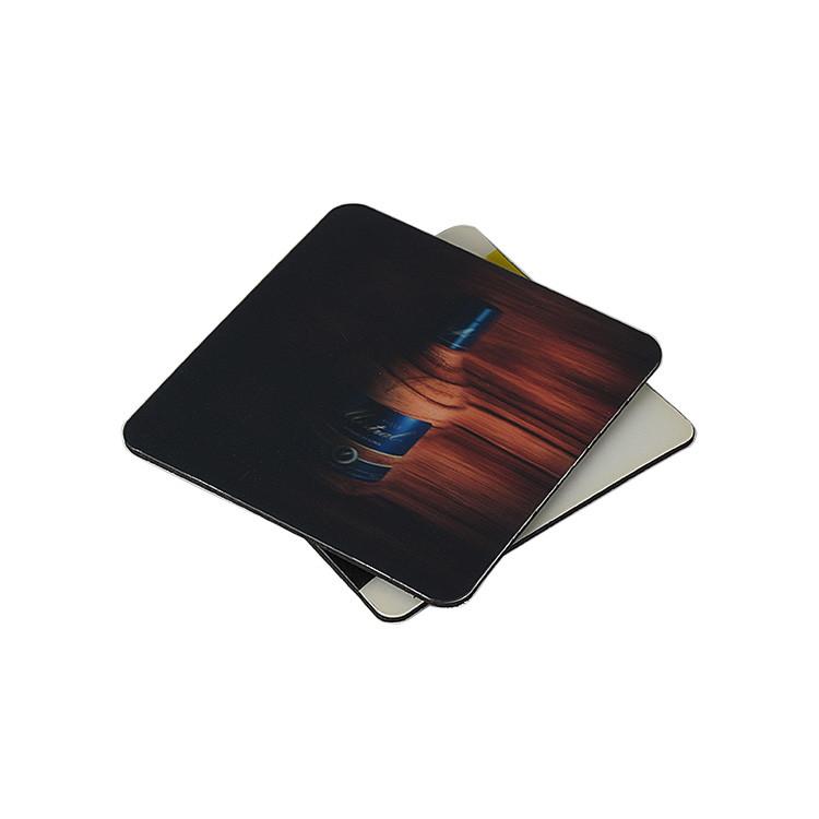 Custom Colorful Logo 3D Printing Effect PET Sheet Plus EVA Sheet Tea EVA Coaster