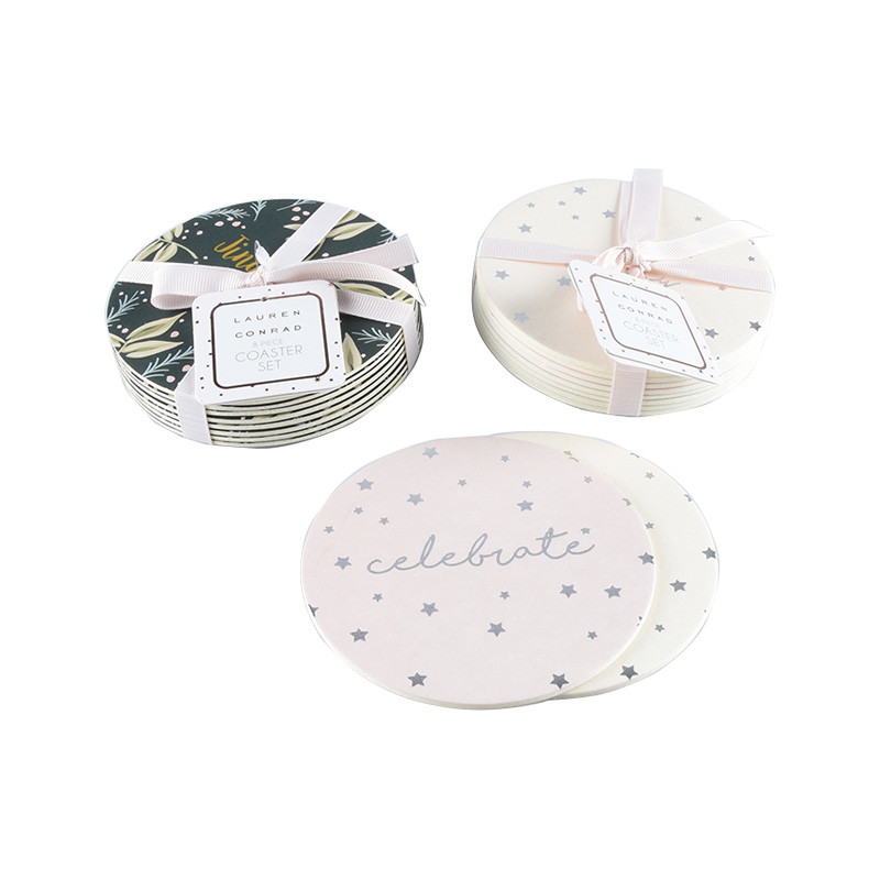 High Quality Pulp Board Premium Absorbent Paper Card Coaster / Cup Mat / Cup Pad
