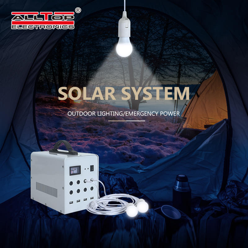 ALLTOP 2020 New design high quality usb rechargeable solar lighting system
