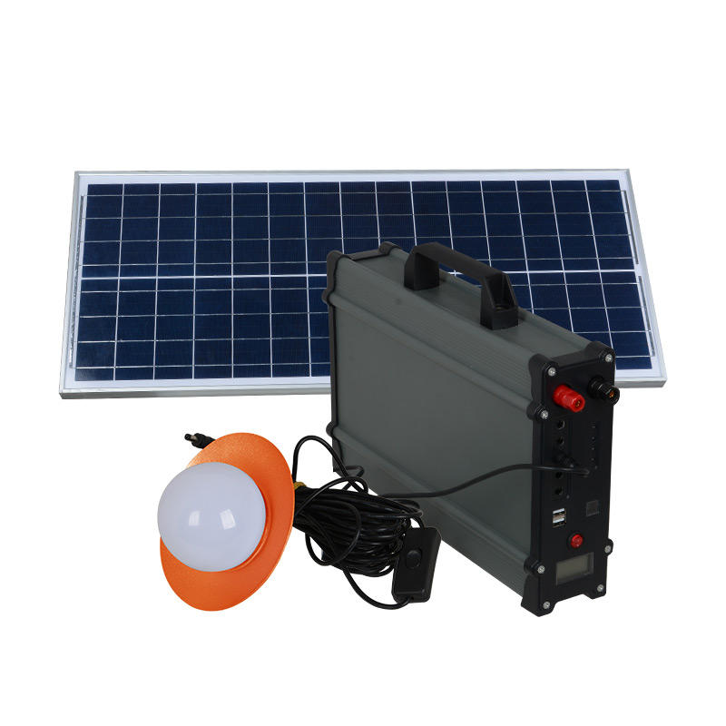 ALLTOP Hot sale portable solar energy system electricity generating 20w 30w 50w 100w solar power system with bulb