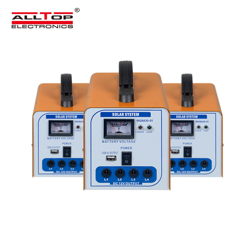 ALLTOP New design high quality off grid home 30w solar power system with the bulb
