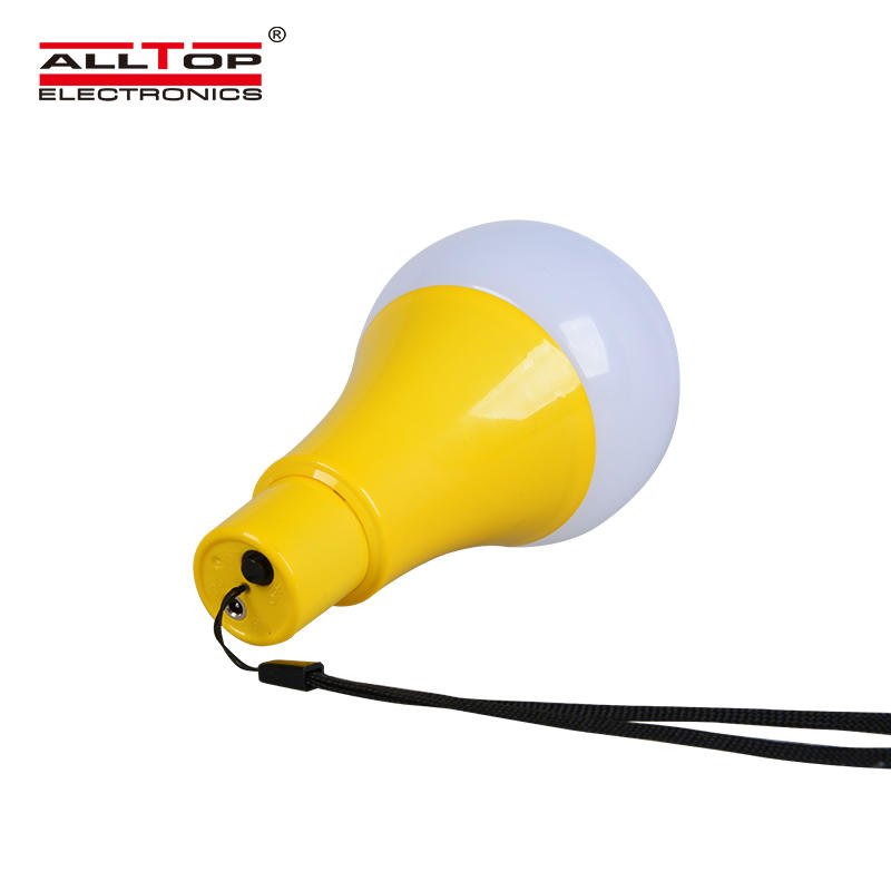 ALLTOP portable solar battery rechargeable outdoor indoor 5w solar led bulb lamp