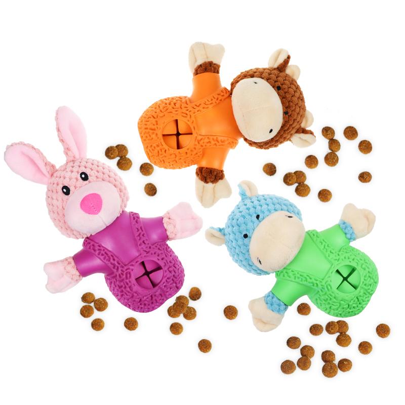 Pets chew dog toys Feed Leakage Plush Stuffed Rabbit