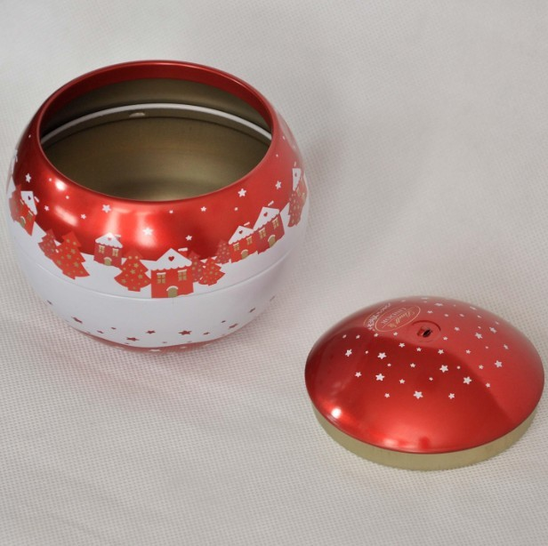 2018 newest chocolate christmas tin ball ornaments