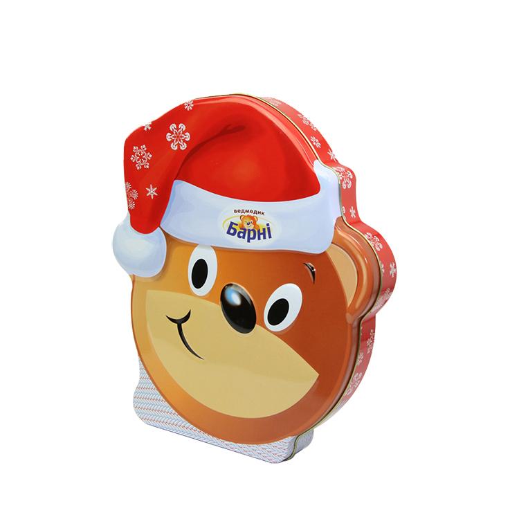 cheap promotion rectangular card christmas tins box