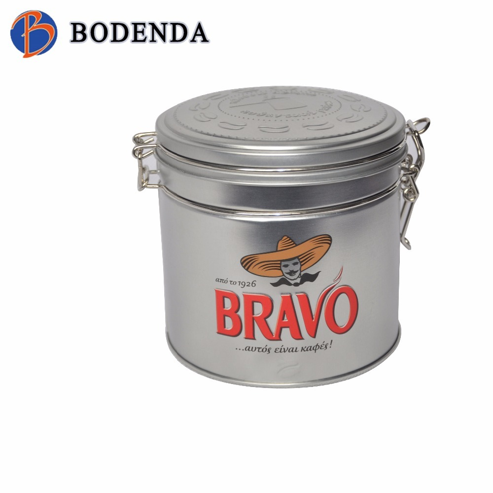 2018 newest round airtight canister tin