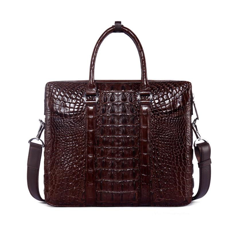 MX-007 Business Laptop Handbag Crocodile Genuine Leather Male Top-handle Men Messenger Bags Alligator Shoulder Tote Bag