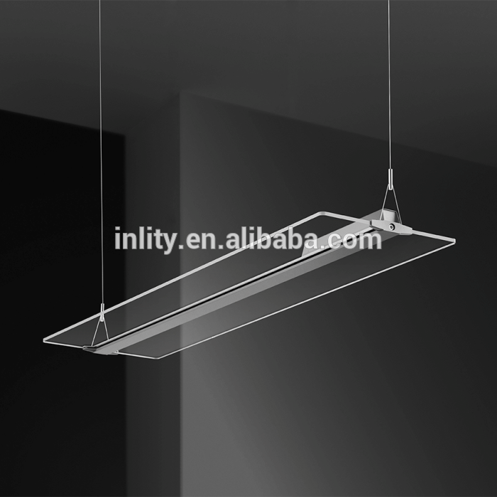 36W Clear Panel Led Light,Suspended Mounted Office Panel Light,4000K Ultra Panel Pendant Light