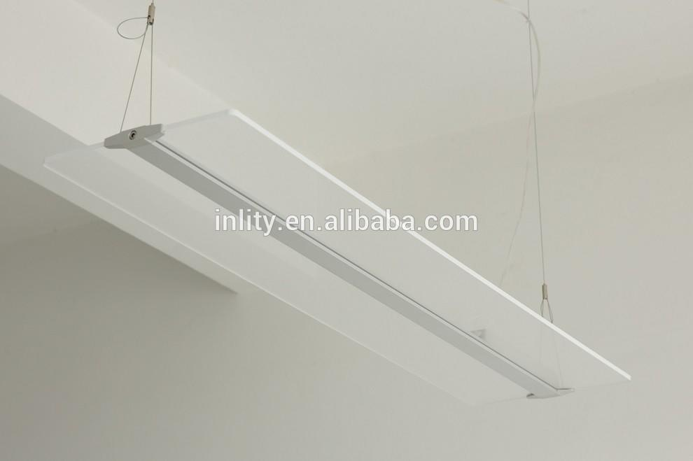 CE approved transparent 60W LED flat pendant Light for office