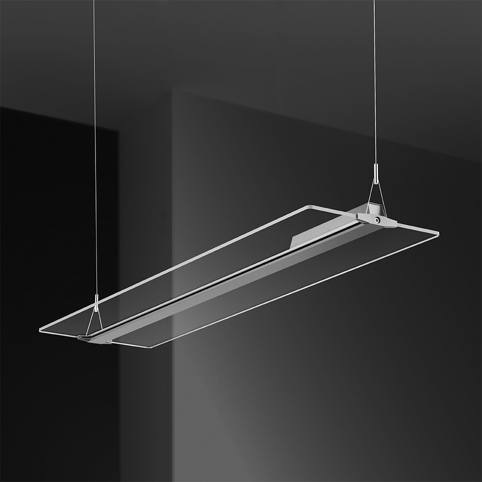 New Product Suspend pendant led light square 54W 3000K Clear Panel Light For the Office