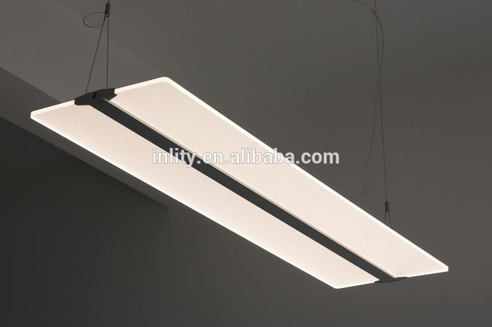 CE listed 60W LED crystal flat pendant Light environmental-friendly 2x4 led panel light